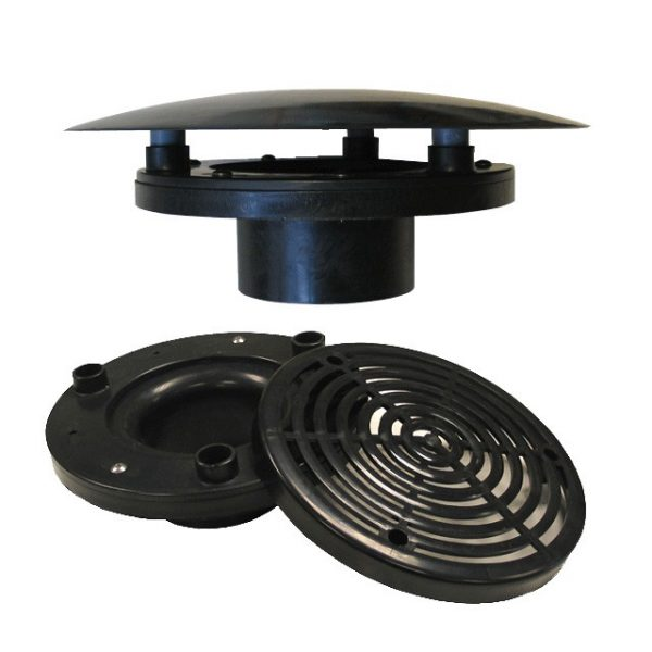 4 in non aerated bottom drain the pond digger for Koi pond bottom drain setup