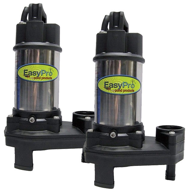Easy pro th series stream waterfall pumps the pond digger for Pond pump design