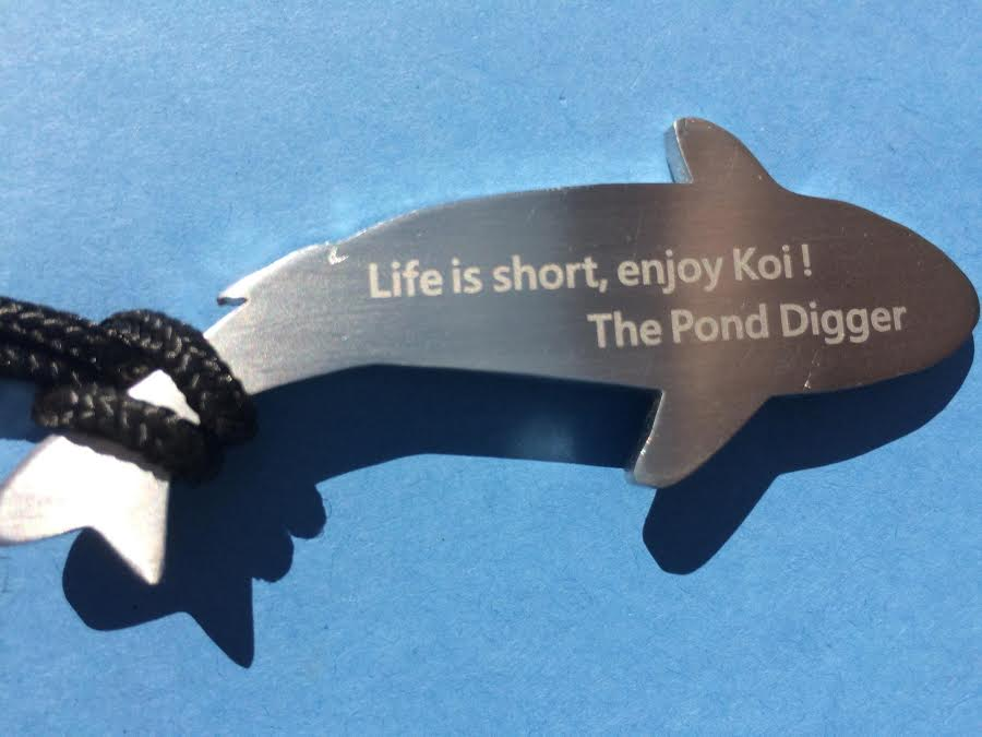 Koi pendant the pond digger for Koi fish predators