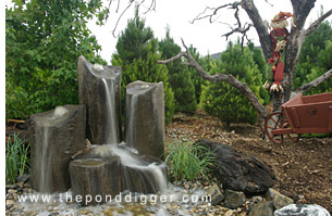 rock fountains the pond digger