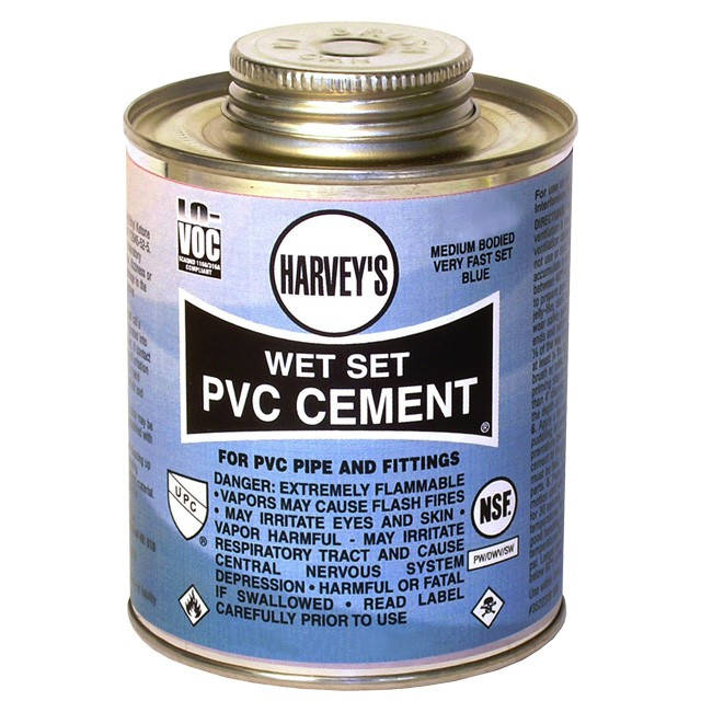 Pvc Cement The Pond Digger